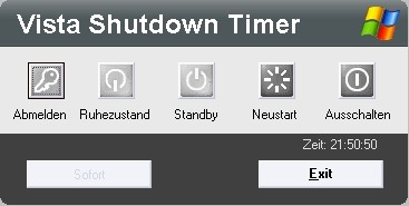 Windows Vista Sleeptimer – nicht nur mit Shutdown