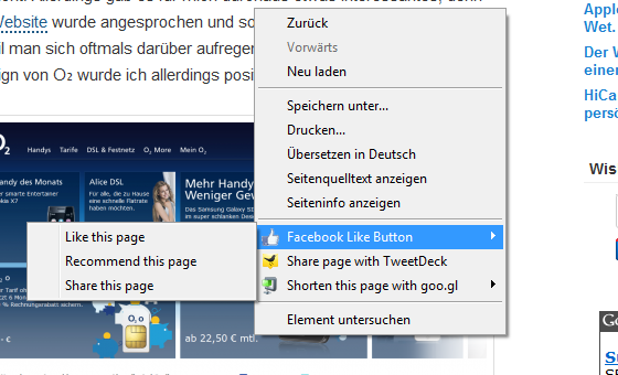 Facebook – Like-Button als Chrome-Erweiterung
