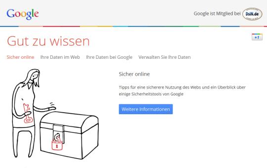 Tipps für Online-Sicherheit von Google