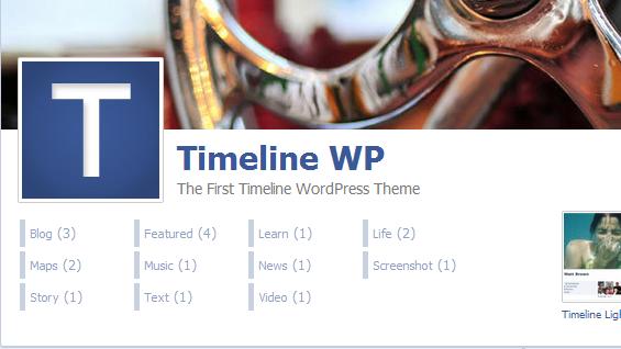 Facebook Timeline WordPress Theme – TimelineWP