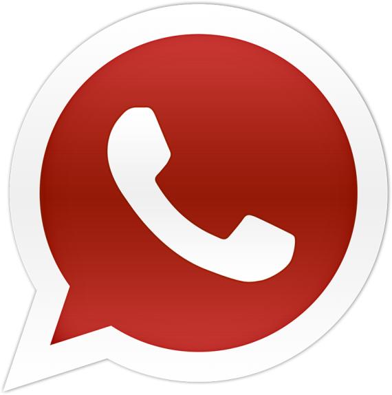 Rotes WhatsApp-Logo wird neue blaue Blume von ICQ