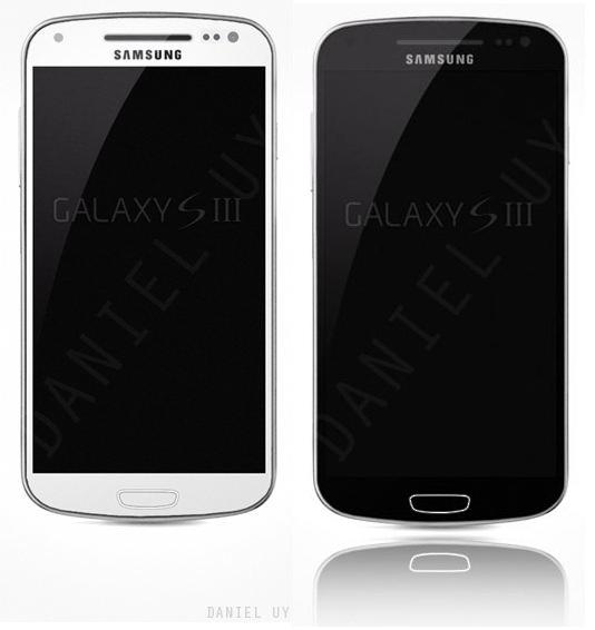 Samsung Galaxy S3 Mockup sieht aus wie das Samsung Galaxy Nexus mit Knopf