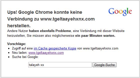 Chrome sagt dir, dass du nicht das Problem bist