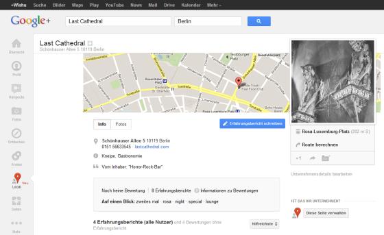 Google+Local – Lieblingsorte teilen