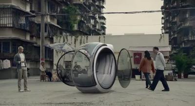 Schwebende Autos von Volkswagen aus China (Konzept)