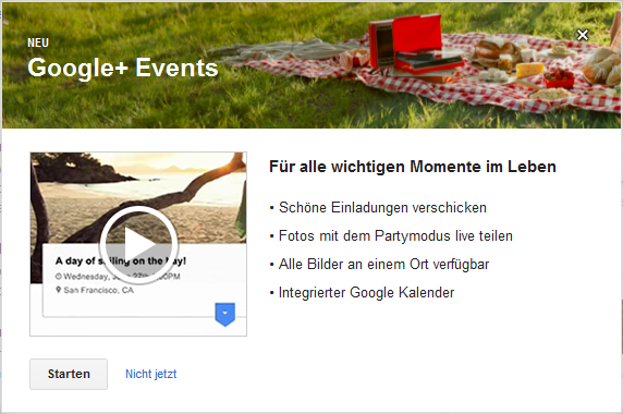 Google+Events ist da
