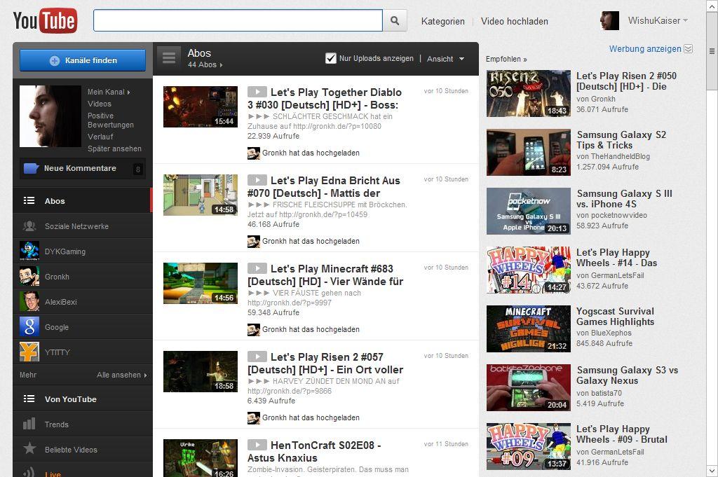 Youtube Altes Design