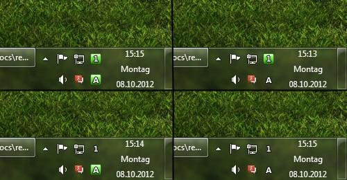 Indikator für Capslock und Numlock neben der Uhr anzeigen – TrayStatus
