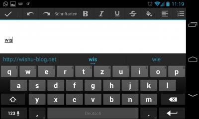 Kürzel auf Android-Tastatur nutzen