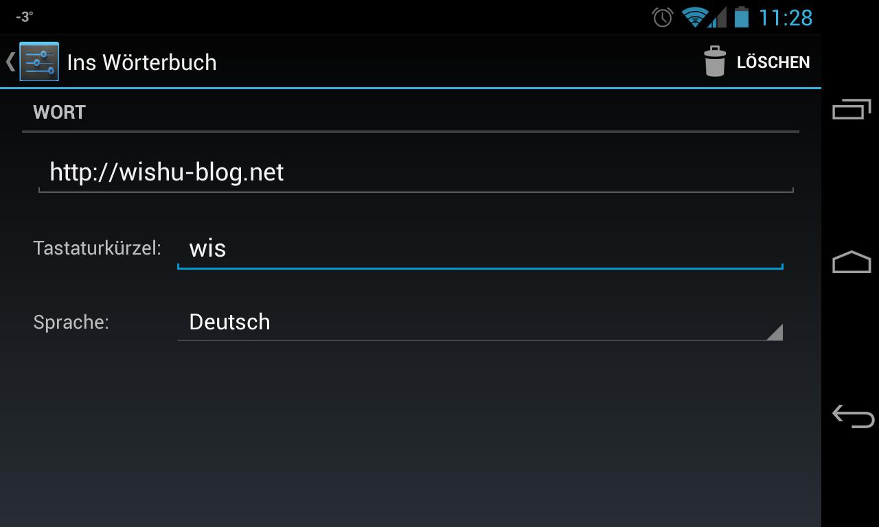 Wishu-Blog-URL als Kürzel