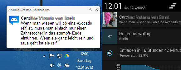 Android Desktop Notifications – Benachrichtigungen auf dem Desktop anzeigen