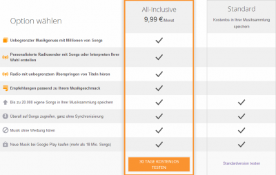 Google Play Music All Inclusive kurz vor dem Start