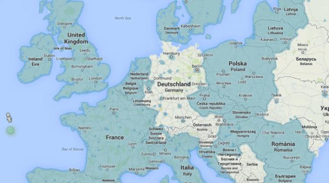 Streetview in Europa