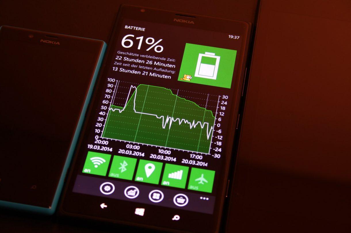 Nokia Lumia 1520 - Akkustatistik
