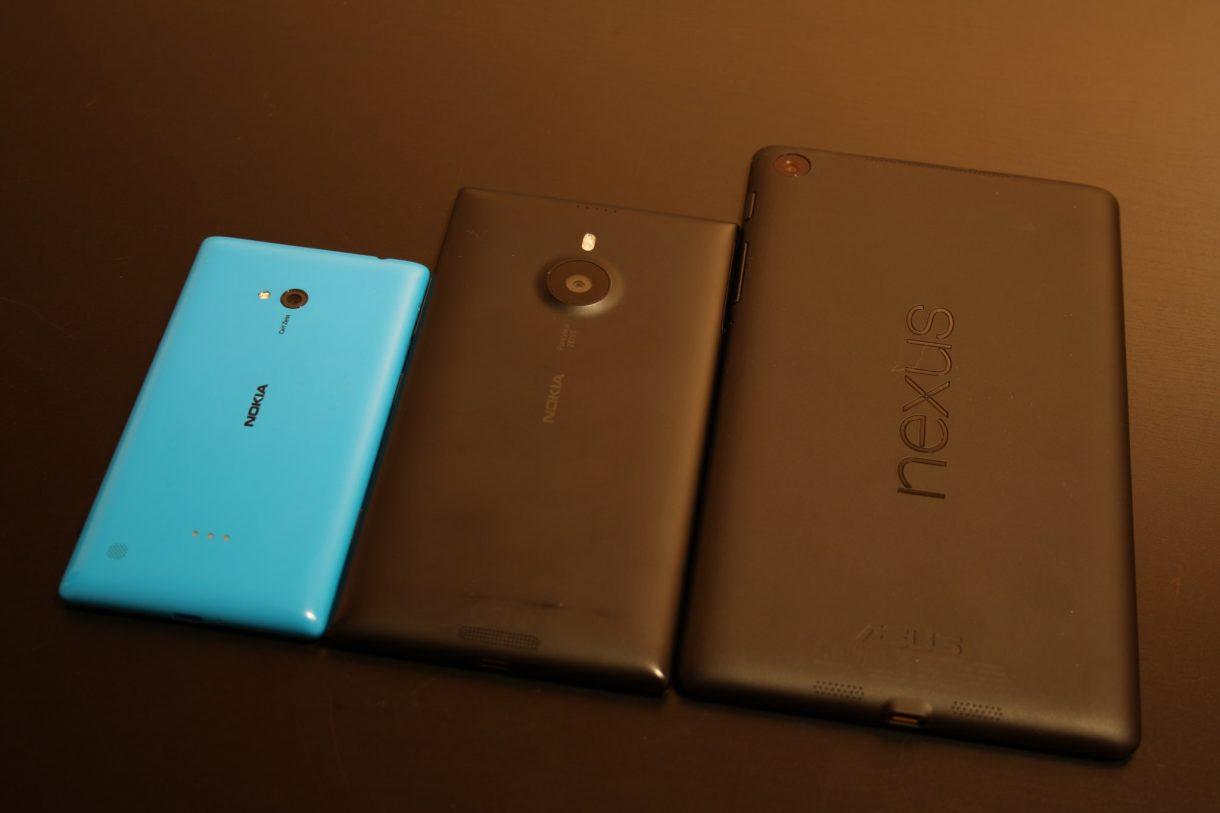 Nokia Lumia 1520 Vergleich mit Lumia 720 und mit Nexus 7 (2013) - 1