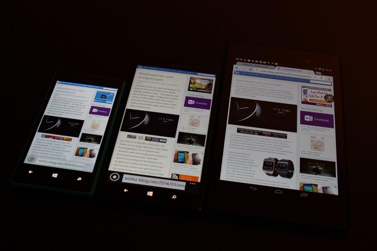 Nokia Lumia 1520 Vergleich mit Lumia 720 und mit Nexus 7 (2013) - 2
