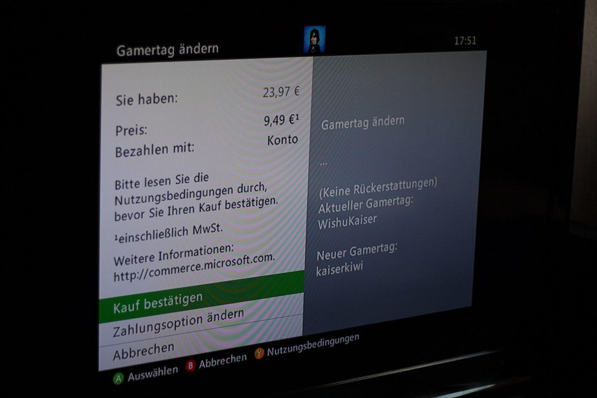 Xbox Gamertag ändern – Wucherpreise