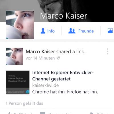 Facebook Beta auf Windows Phone mit grossem Update – Profil