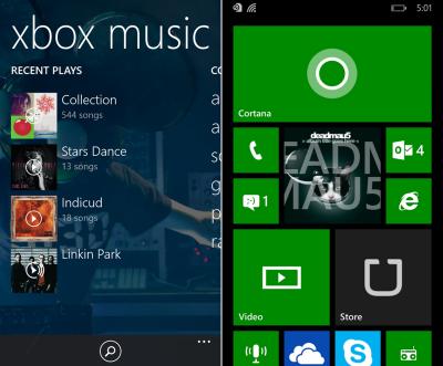 Windows Phone 8.1 Update 1 - Xbox Music