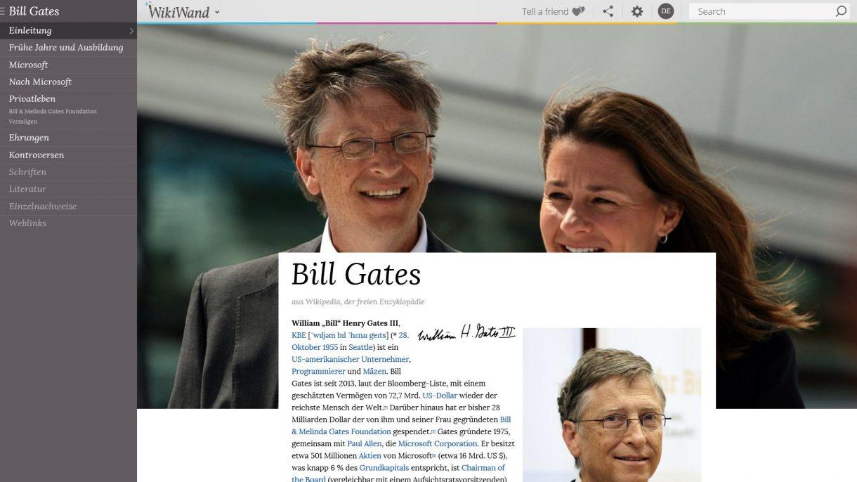 Bill Gates auf WikiWand