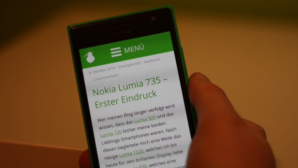 Lumia 735 Display