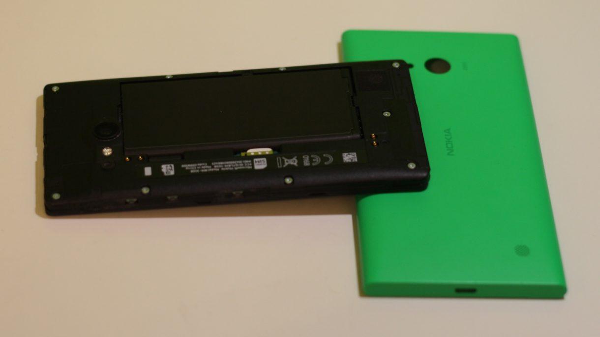 Lumia 735 ohne Abdeckung