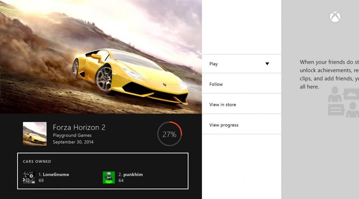 Xbox One Februar Update - Game Hub