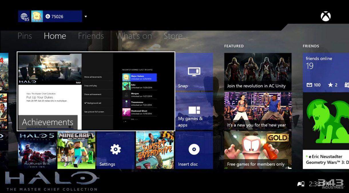 Xbox One Februar Update - Transparente Kacheln