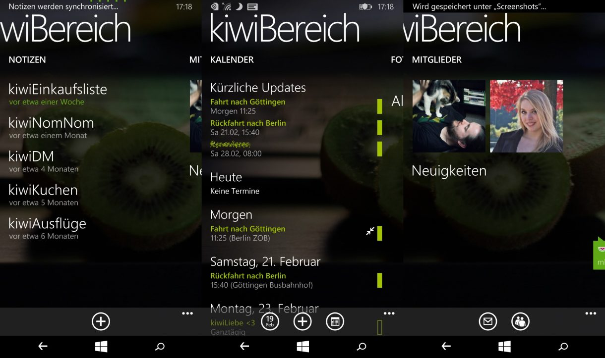 Windows Phone - Räume