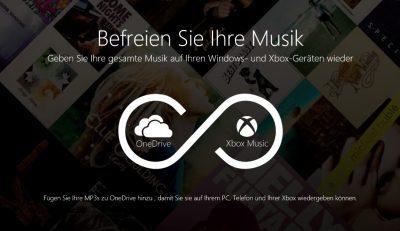 OneDrive küsst Xbox Music – Eigene Musik in Xbox Music hören
