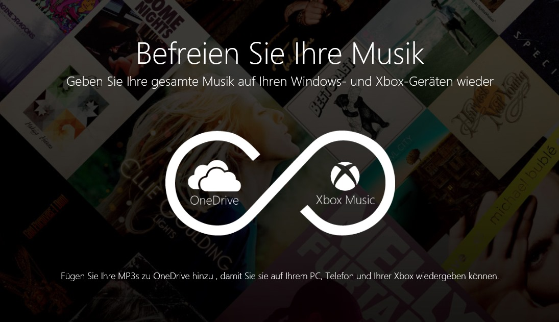 how to play music from one drive to xbox
