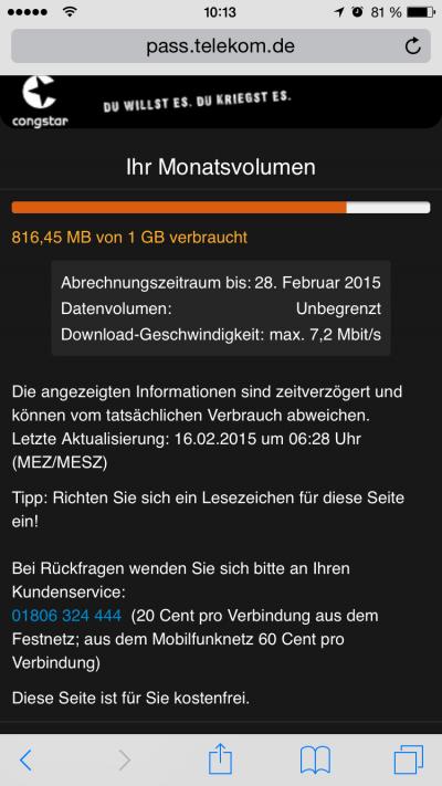 iOS Datenverbrauch
