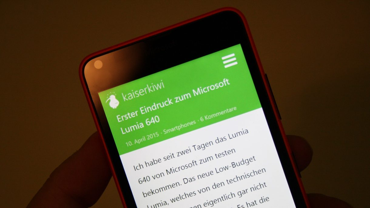 Lumia 640 Display