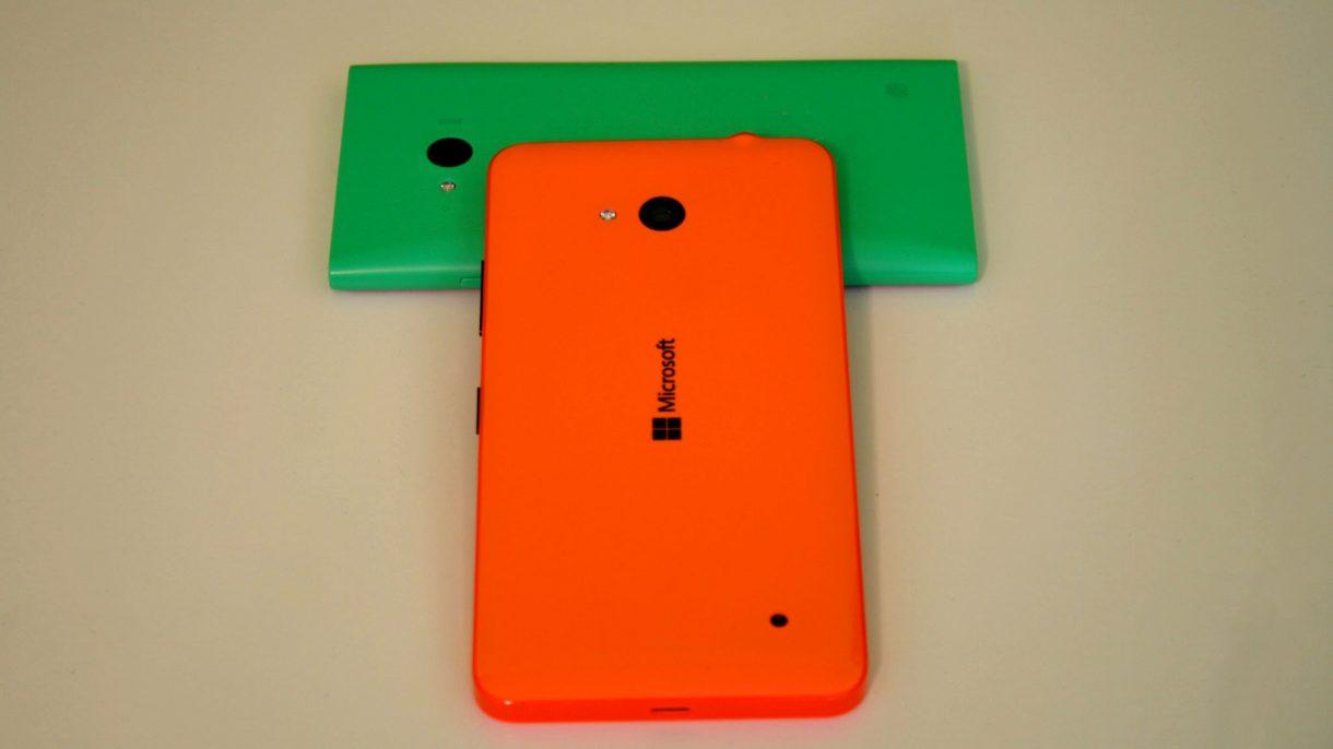 Lumia 640 auf Lumia 735 hinten