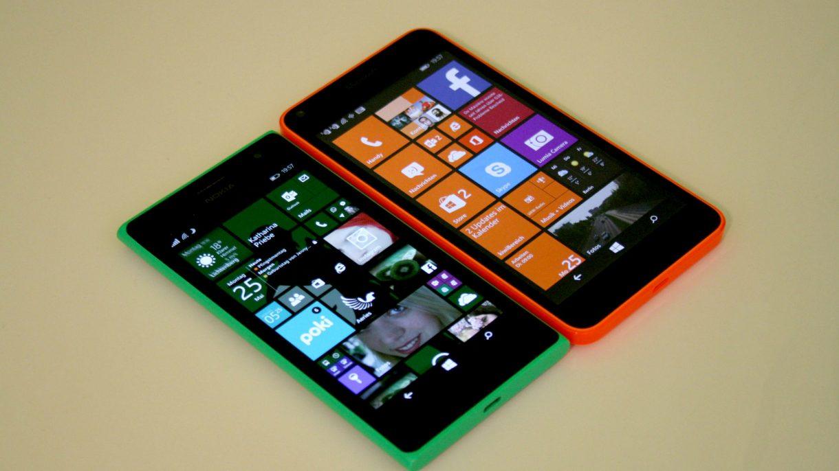 Lumia 640 und Lumia 735 von vorne