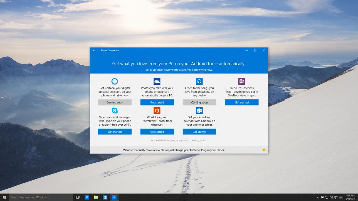 Windows 10 Companion App