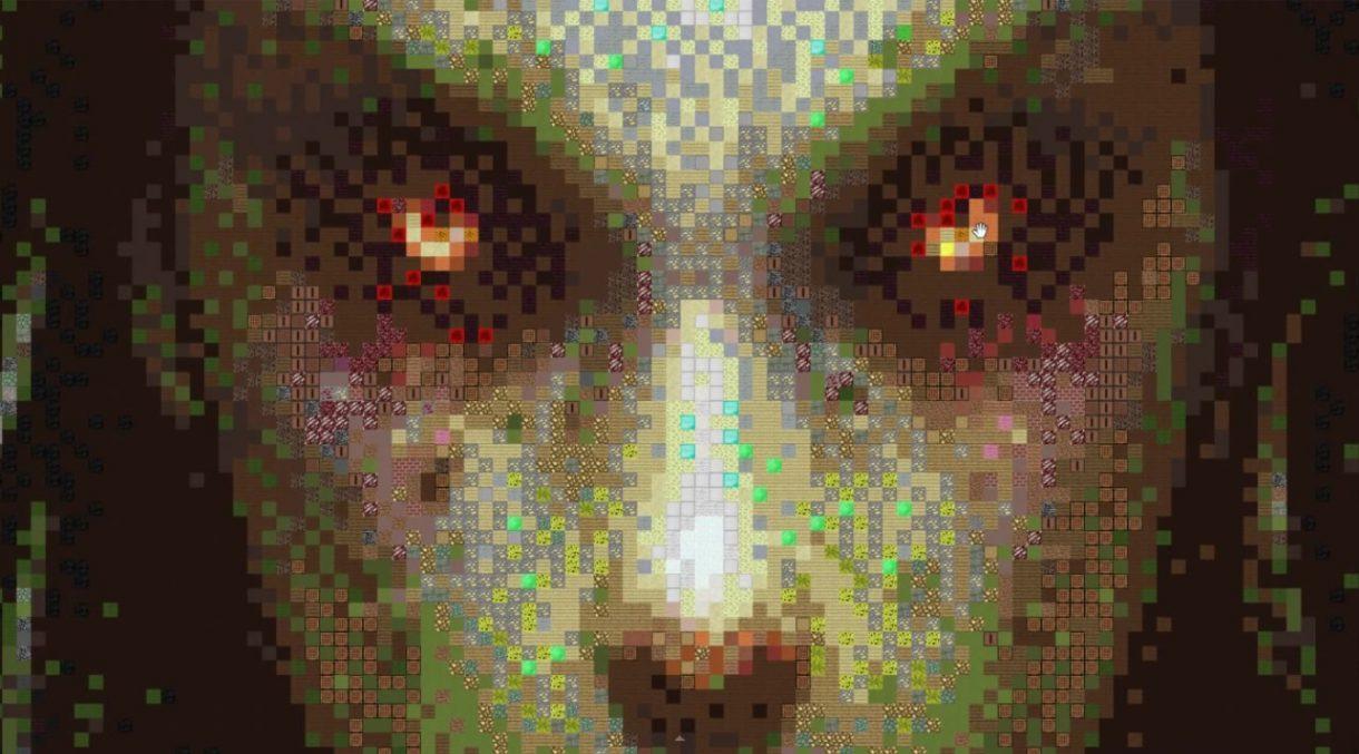 Minecraft Pixel Art world record