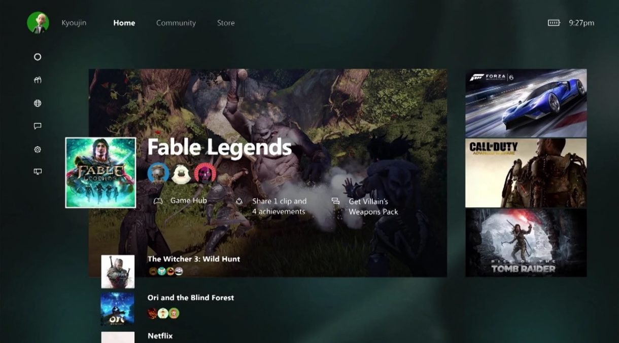 Xbox One new Dashboard