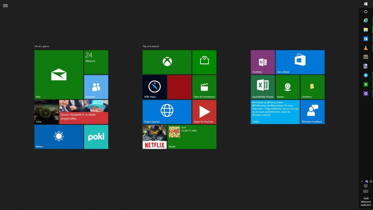 Windows 10 Startmenue