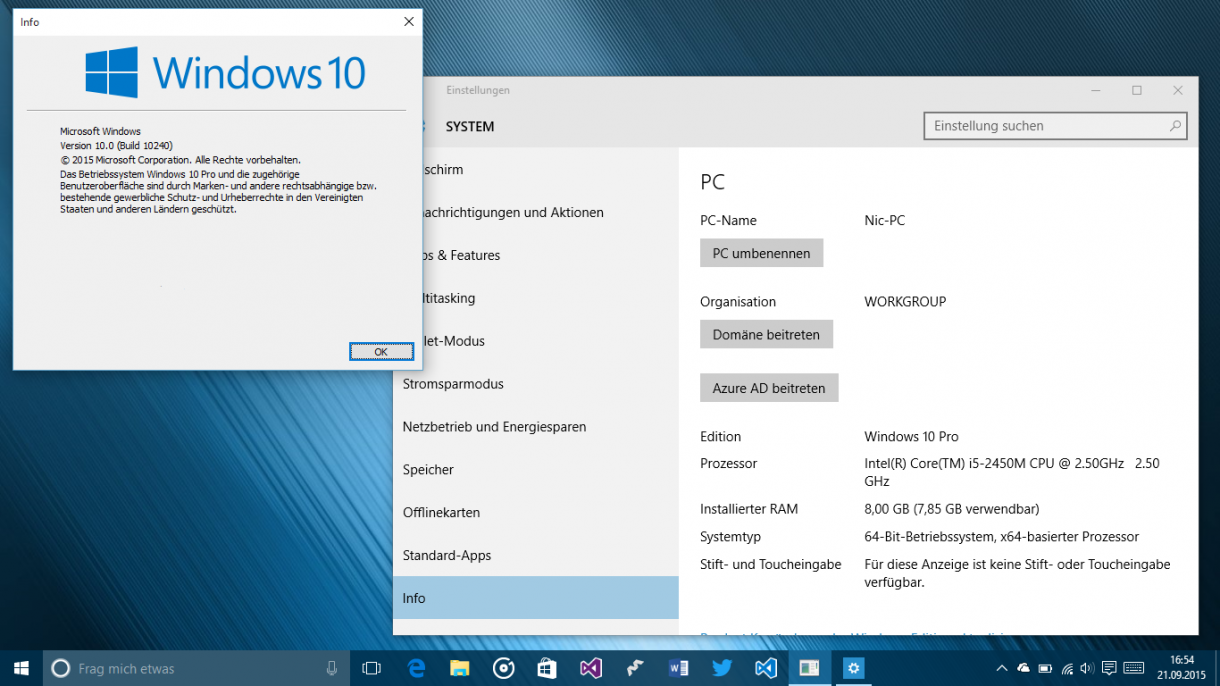 Windows10 Desktop Nic-PC