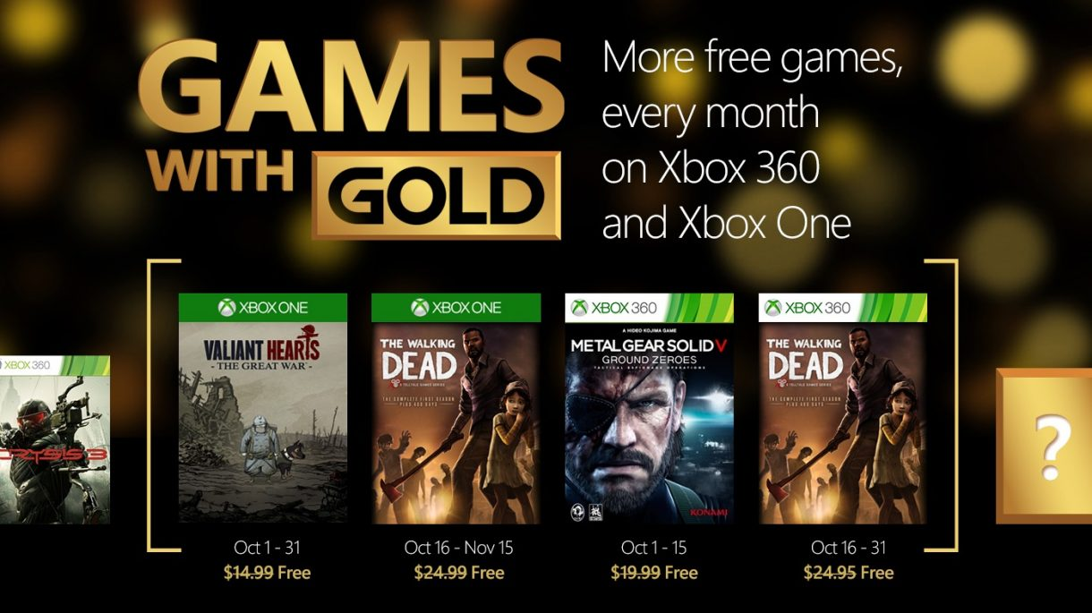 Games with Gold im Oktober