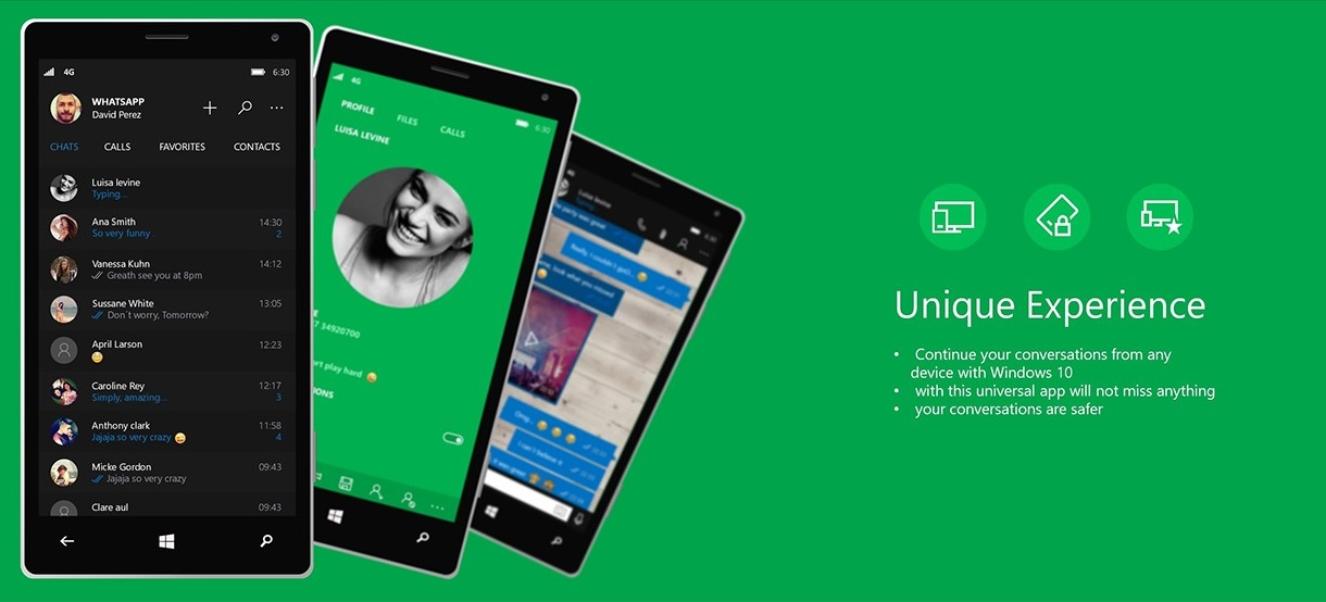 WhatsApp Universal App for Windows 10 Mobile