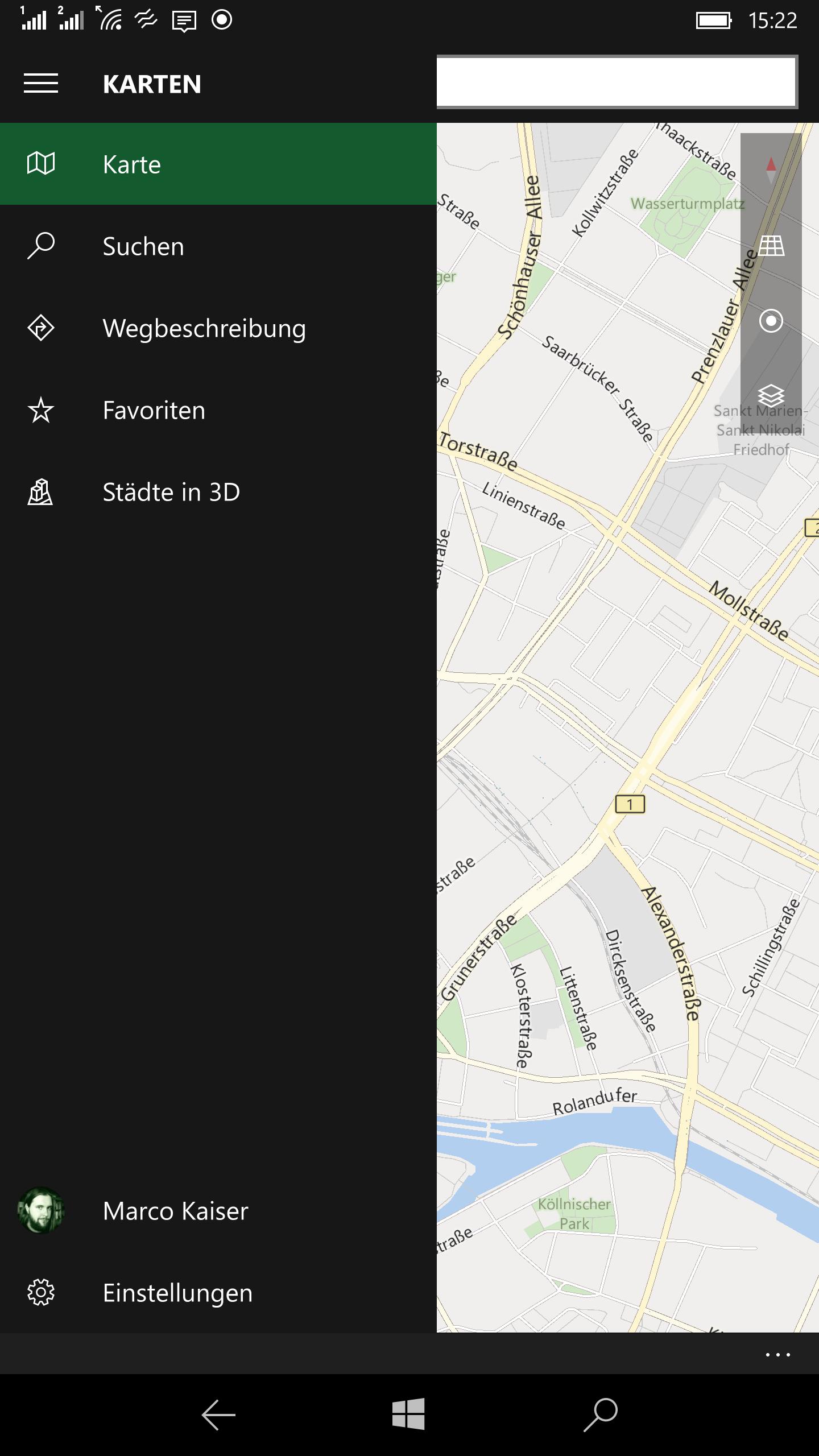 Windows 10 Mobile - Hamburger Menue (12)