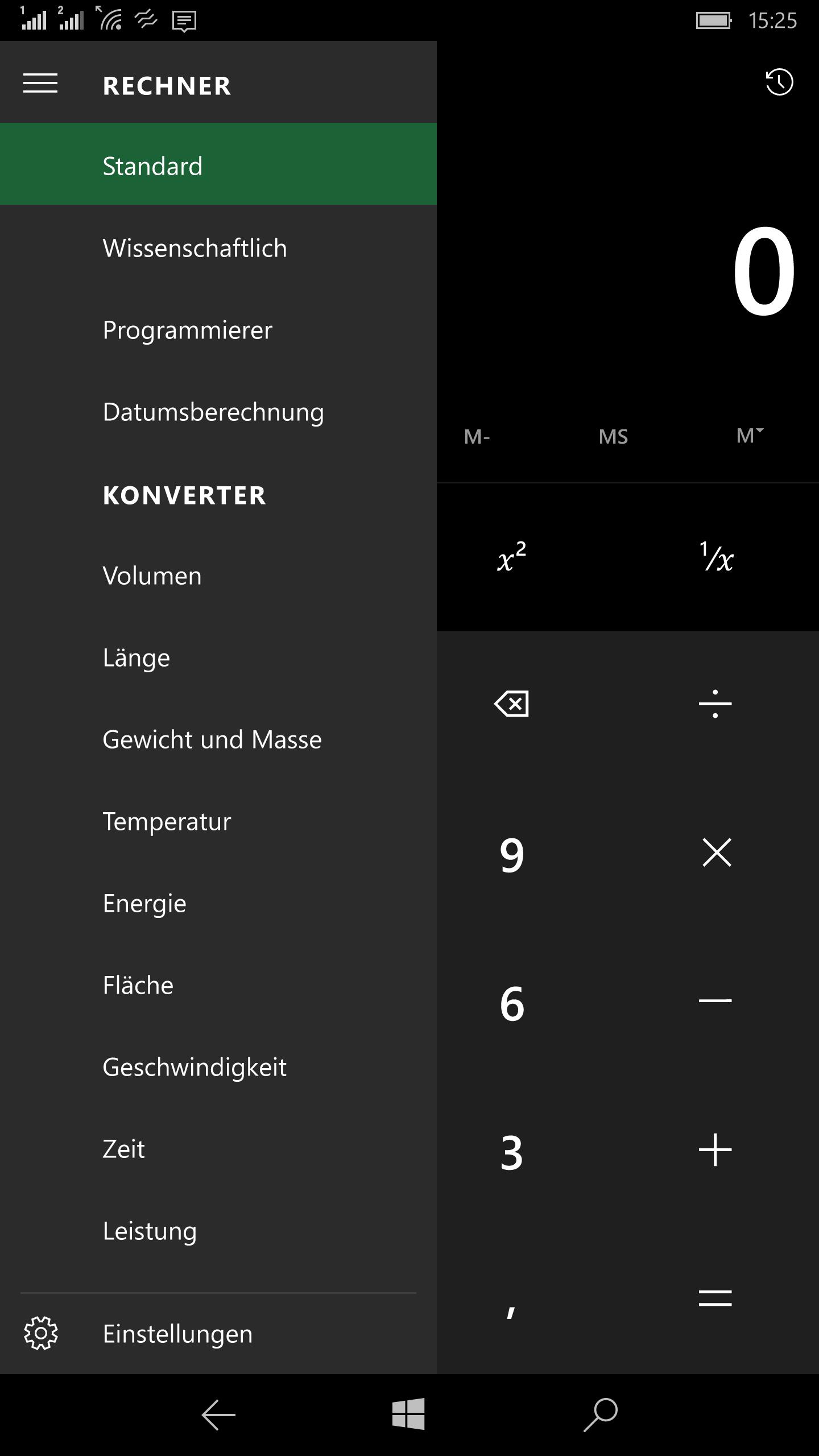 Windows 10 Mobile - Hamburger Menue (22)