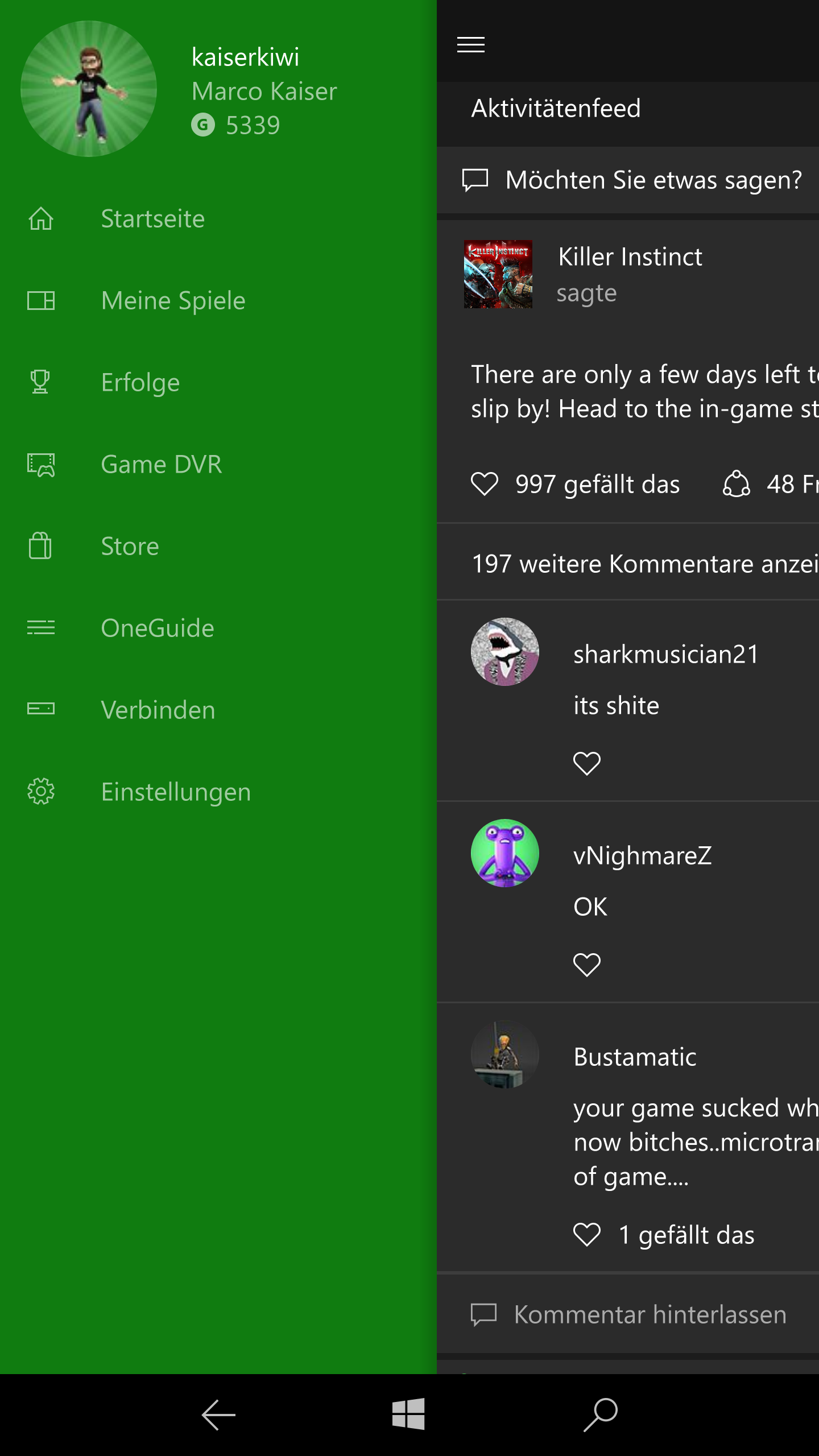 Windows 10 Mobile - Hamburger Menue (26)