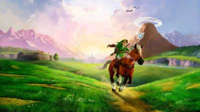 The Legend of Zelda: Ocarina of Time mit einer Okarina gespielt