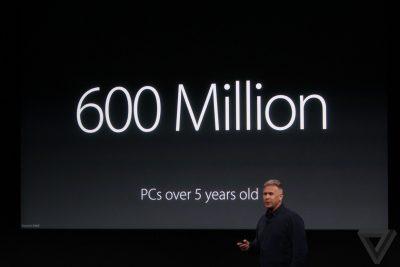 Und Apple so: 5 Jahre alte PCs sind traurig