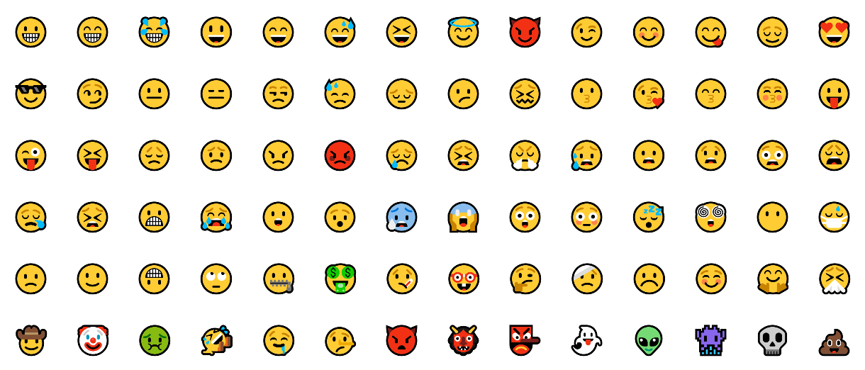 New Windows 10 Redstone Microsoft Emojis
