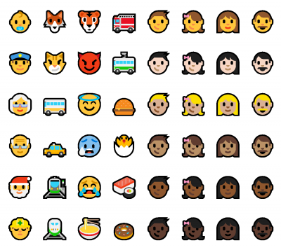 New Windows 10 Redstone Microsoft Emojis colored