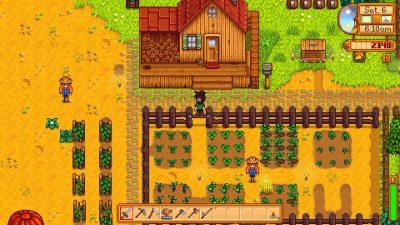 Stardew Valley Screenshot, der ein paar Felder zeigt.